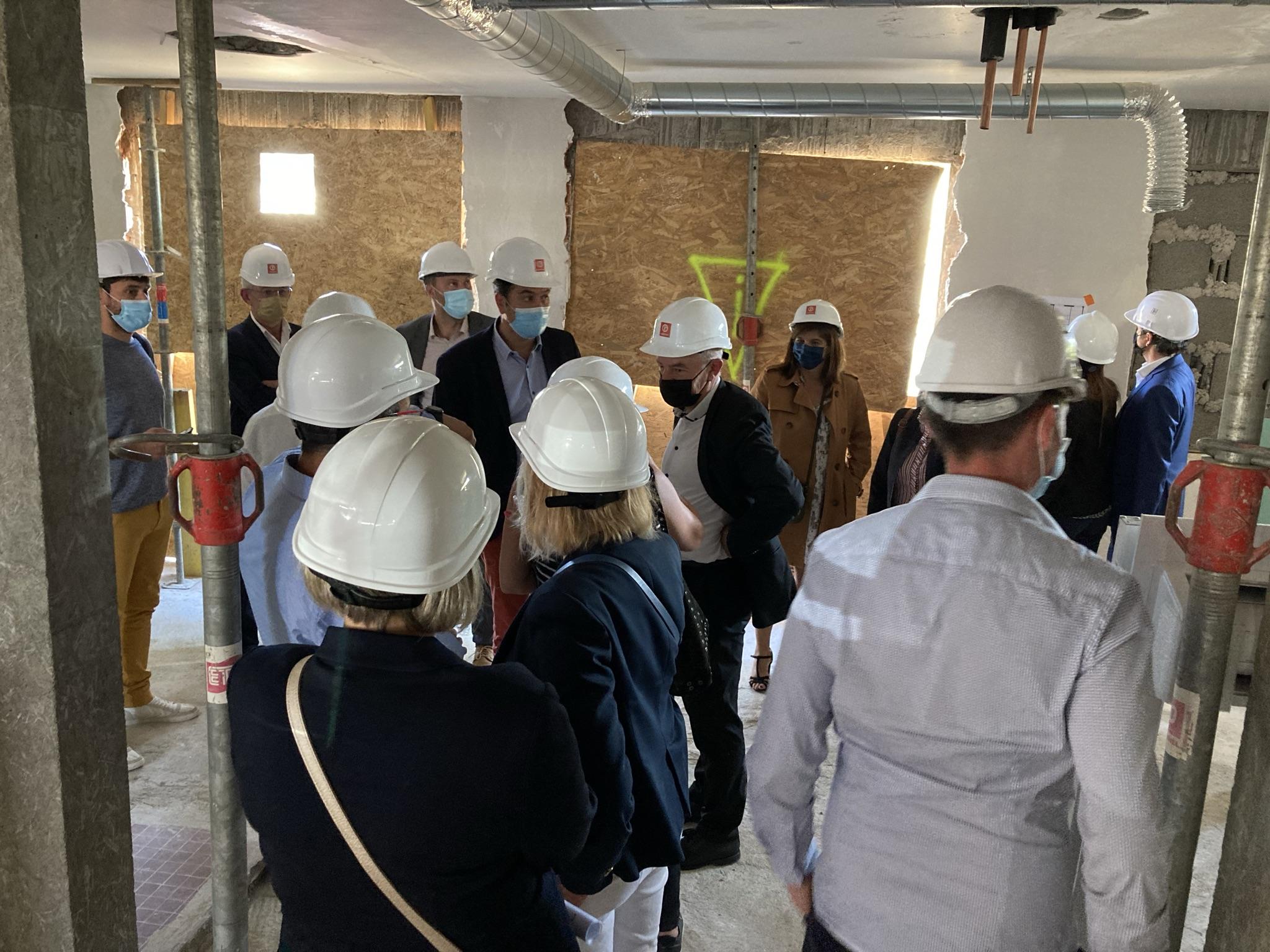 Visite de chantier de la future résidence Habitat Jeunes Atlantique